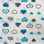 Flannel Turquoise with Dots 45 Inch Fabric by the Yard