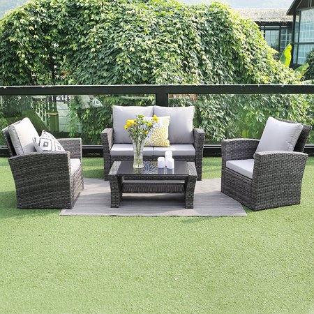 wisteria lane outdoor patio furniture set 5 piece sectional sofa