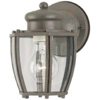64689 1 Light Rust Patina Wall Mount Lantern