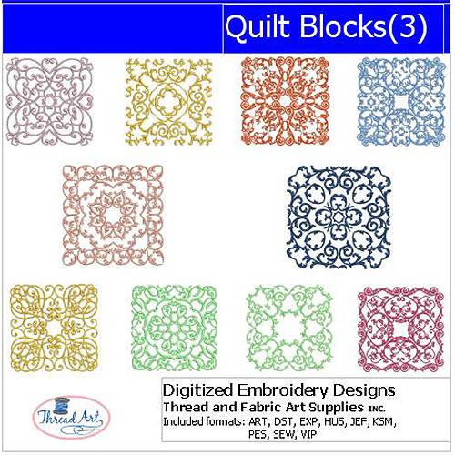 ThreadArt Machine Embroidery Designs Quilt Blocks(3) CD