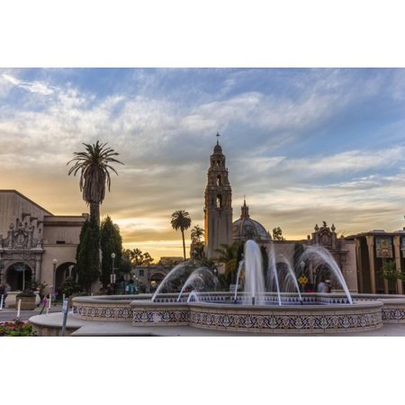 Sunset at Balboa Park in San Diego, Ca Print Wall Art By Andrew