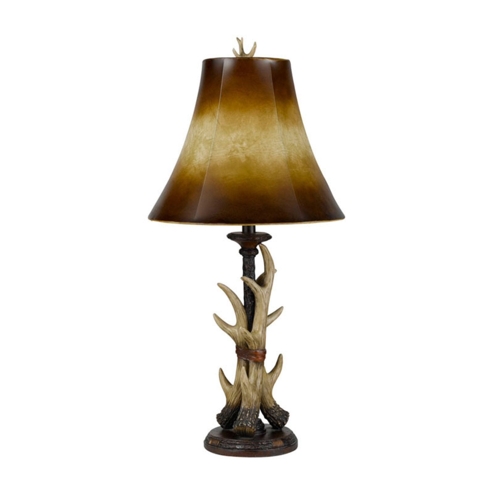 Cal Lighting BO-2068TB Resin Buckhorn Table Lamp by CAL Lighting