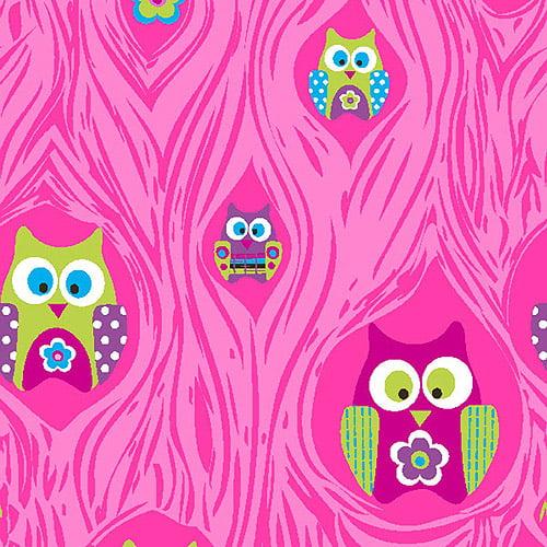 "Creative Cuts Cotton 44"" wide, 2 yard cut fabric, Owl Print"
