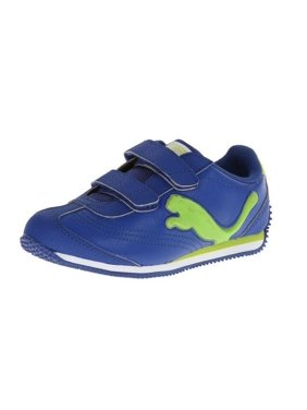 a3b5cf3aa7f Product Image Puma Infant Toddler Speeder Illuminescent V Light Up Sneaker  Shoes - Blue   Gray