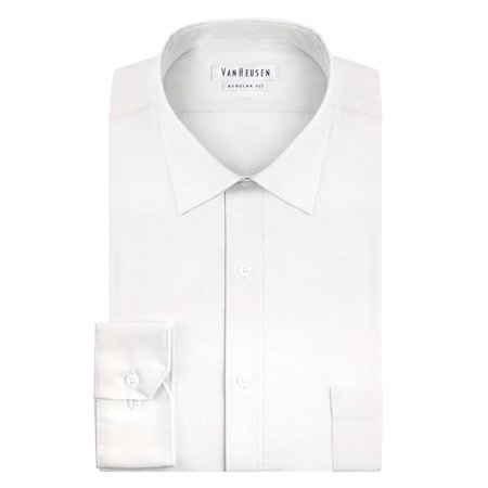 Van Heusen NEW White Mens Size 15 Long-Sleeve Regular-Fit Dress Shirt ()