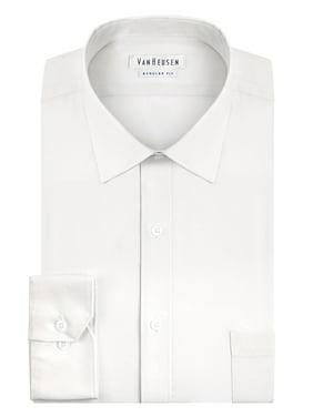 Van Heusen NEW White Mens Size 15 Long-Sleeve Regular-Fit Dress Shirt