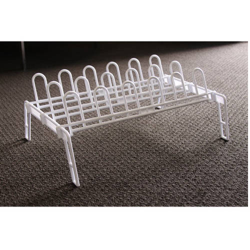mainstays plastic shoe rack