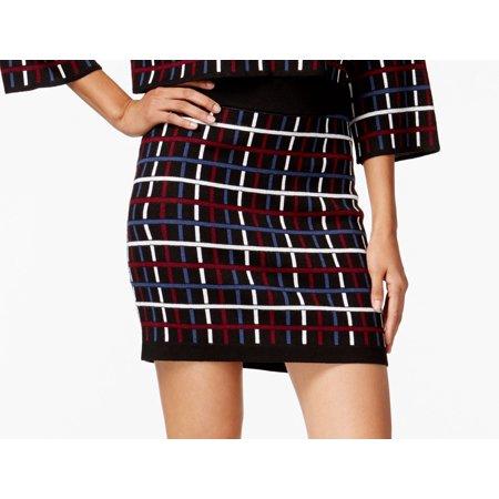 BCBG Generation NEW Black Womens Size 2XS Multicolor Stretch Knit Skirt