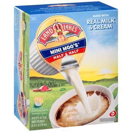 (6 Pack) Land O Lakes Mini Moos Half & Half Dairy Creamers, 24 Ct