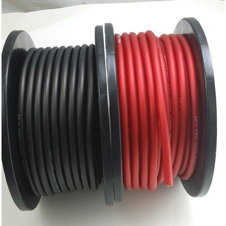 6 GAUGE AWG wire clabe 20 FT 10 Black 10 Red Power Ground Stranded