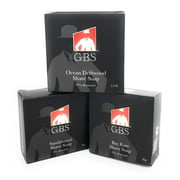 GBS 97% All Natural Shave Soap - Made in The USA - Creates a Rich Lather Foam for Ultimate Wet Shaving Experience (3 Pack)