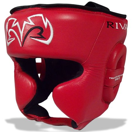 Rival Boxing RHG2 Leather Ultra Sleek Headgear - Red