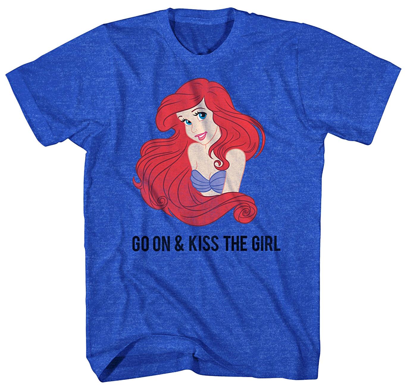 Disney Little Mermaid Go On & Kiss The Girl Graphic T-shirt