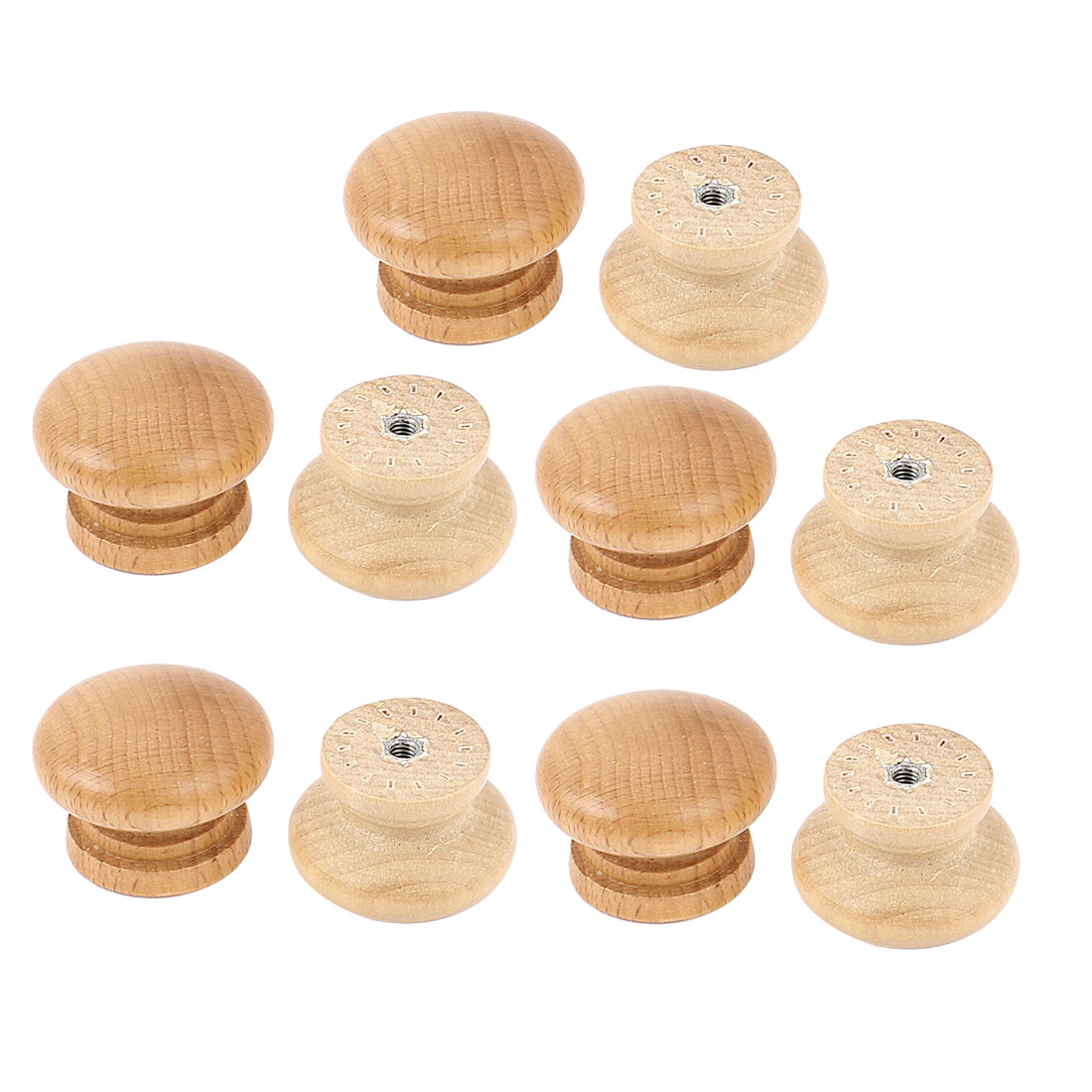 Unique Bargains 10 Pcs Hardware Wooden Door Knob Wardrobe Cabinet Kitchen Drawer Pull Handle