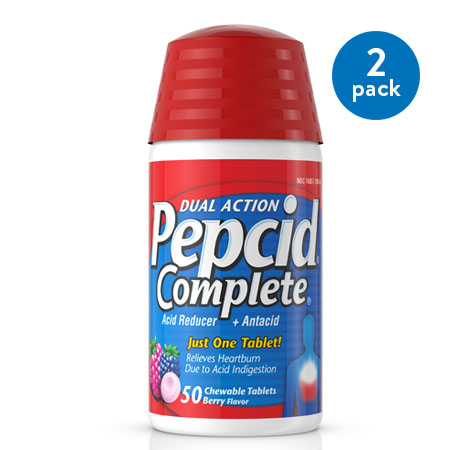 Pepcid Complete Dual Action Chewable Tablets, Berry Flavor, 50 ct.