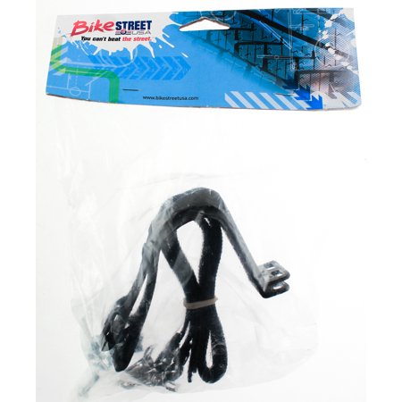 - Road Mountain Bike Bicycle Small Pedal Toe Clips & Strap Set Pair Sm S  Pr NEW