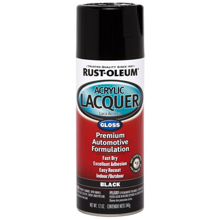 Style Black Lacquer - Rust-Oleum Acrylic Lacquer Gloss
