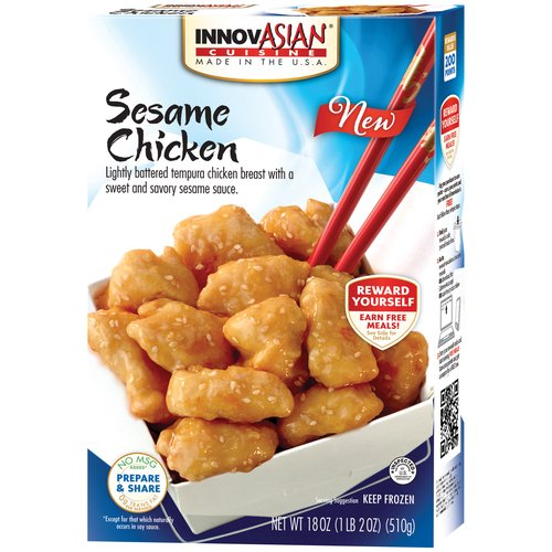 InnovAsian Cuisine Sesame Chicken Frozen Dinner, 18 oz