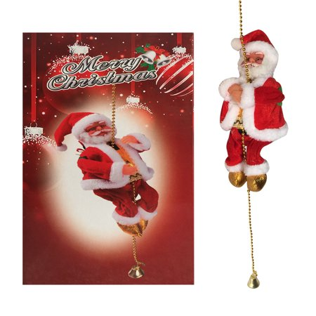Electric Climbing Ladder Santa Claus Christmas Figurine Ornament Gifts Christmas Electric Ornaments