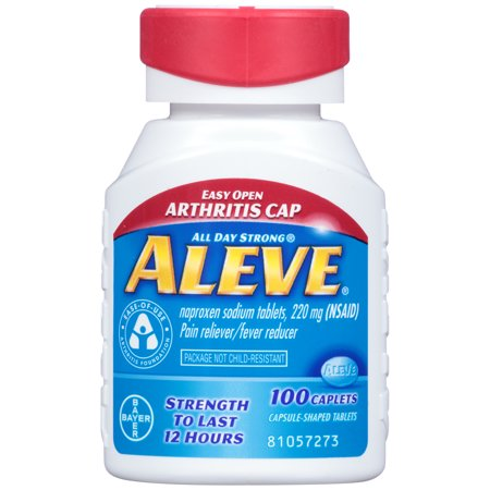 Aleve Caplets with Easy Open Arthritis Cap, 220 mg, 100 Count (Rheumatoid Arthritis Drug)