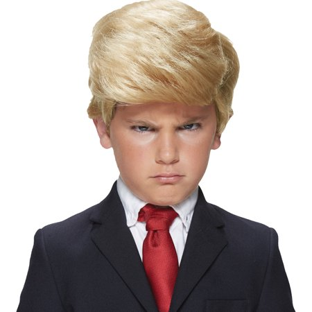 Boys President Trump Blonde Full-Side Parted Wig Halloween Costume Accessory](Blonde Halloween Ideas)