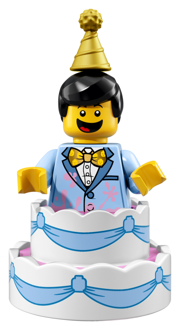 genuine lego minifigures the birthday cake guy from series 18