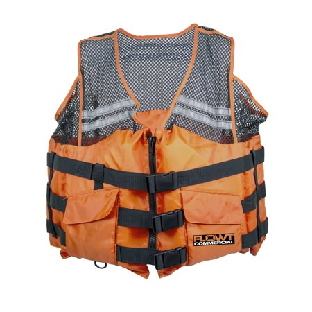 Commercial Comfort Mesh Type III - Orange; (Commercial Life Jacket)