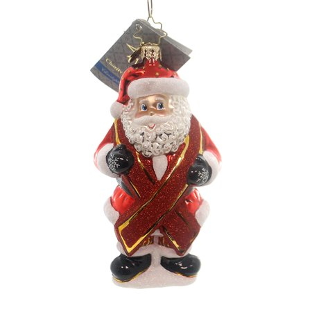 Charity Claus Aids Awareness Ornament, Ornament Stands 5 inches tall By Christopher Radko - Retired Radko Halloween Ornaments