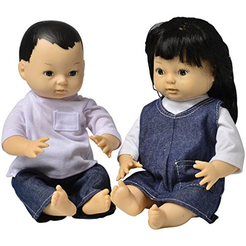 Constructive Playthings CPX-99 Ethnic Dolls - Asian Pair