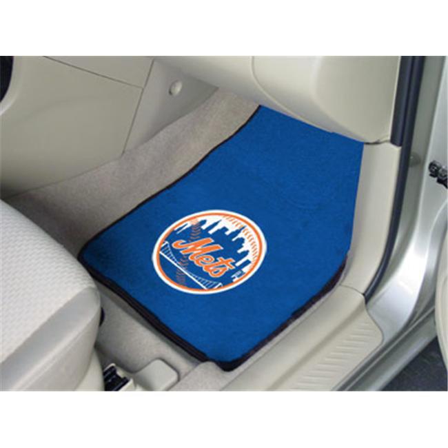 New York Mets Printed Carpet Car Mat 2 Piece Set