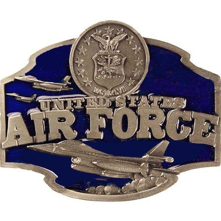 United States Air Force Belt Buckle Enamel Blue