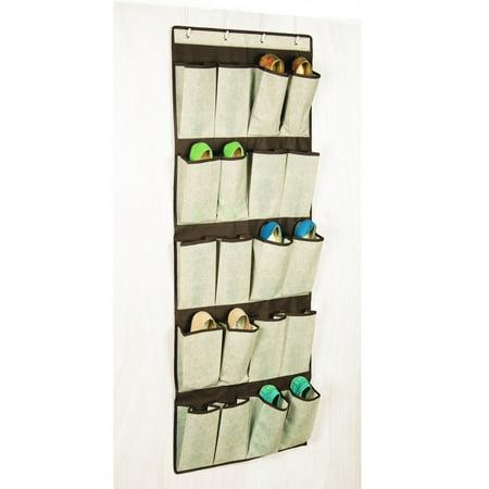 Storage canvas 24 pocket over the door shoe organizer for 12 pocket over the door shoe organizer