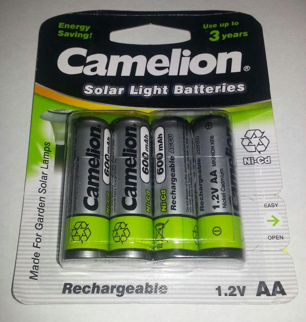 Camelion AA Rechargeable NiCD Batteries 600mAH 4 Pack Retail + FREE SHIPPING!