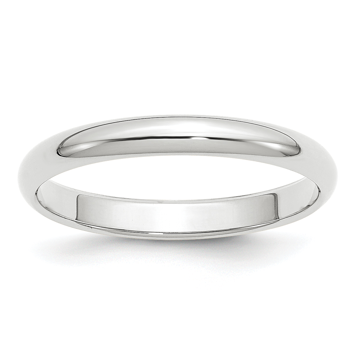 14k White Gold 3mm Half Round Wedding Ring Band Size 12.00 Classic Domed Fine Jewelry Gifts For Women For Her - image 9 of 9