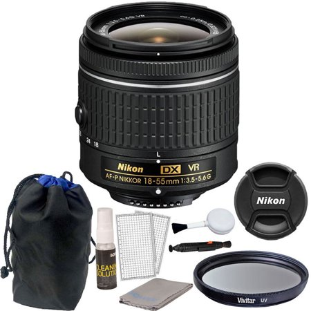 Nikon 18-55mm f/3.5 - 5.6G VR AF-P DX Nikkor Lens for Nikon D3300 DSLR