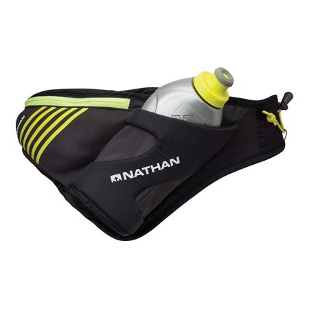 Nathan Nutrition Flask (Peak Waist Pack, Black, One Size, 18 oz/535 ml Ergological Speed Draw Flask with push/pull Race Cap By Nathan )