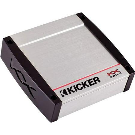 Kicker 40KX200.2 200 Watt Two-Channel Full-Range Class D Car Amplifier ()