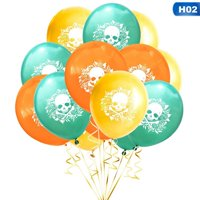 KABOER Happy Halloween Day The Dead Sugar Skull Latex Balloons Party Decorations