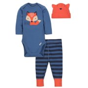 Gerber Onesies Bodysuit, Pants & Cap, 3pc Set (Baby Boys)