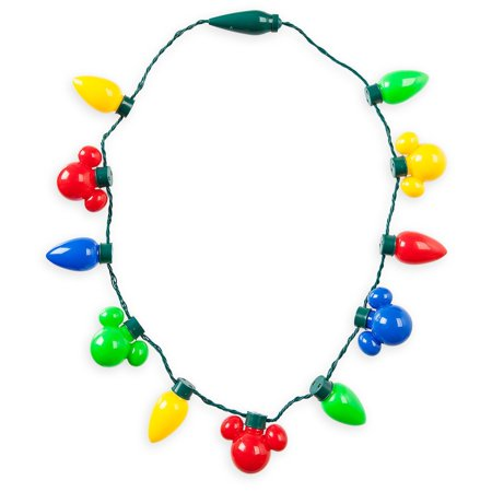 disney parks mickey mouse icon holiday lights necklace light up christmas glow - Mickey Mouse Christmas Lights