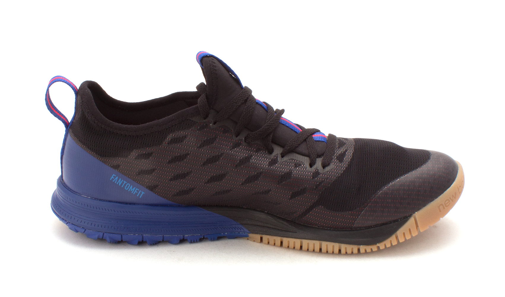 2df5283ee7581 New Balance Mens hommes Fabric Low Top Lace Up, Black/blue/red, Size 10.0