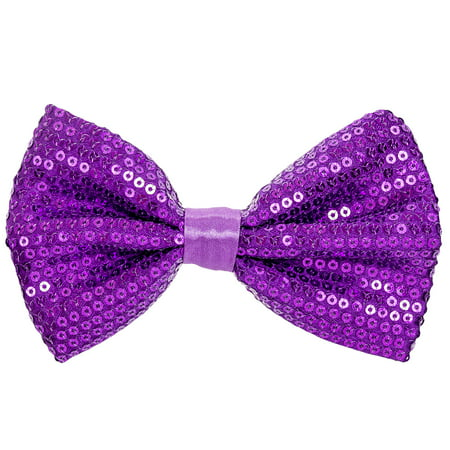Aj Accessories Mens Sequined Classic Formal Adjustable Pre Tied Bow Tie
