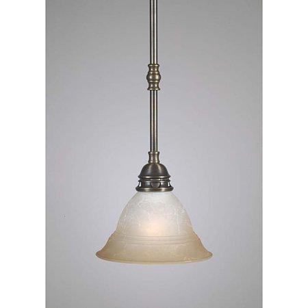 - Aztec Lighting Transitional 1 Light Antique Brass Mini Pendant