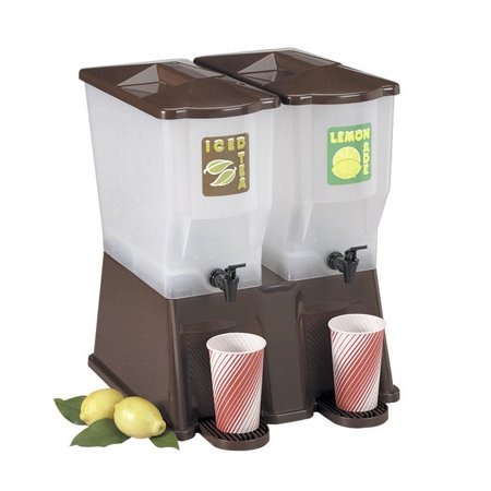 Slimline Beverage - Double Dispenser Brown 3 gal