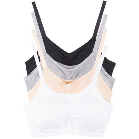 Comfort Cami (4 Pack Kalon Comfort Cami Bra Pullover Design Seamless (Medium/Large, Basics))