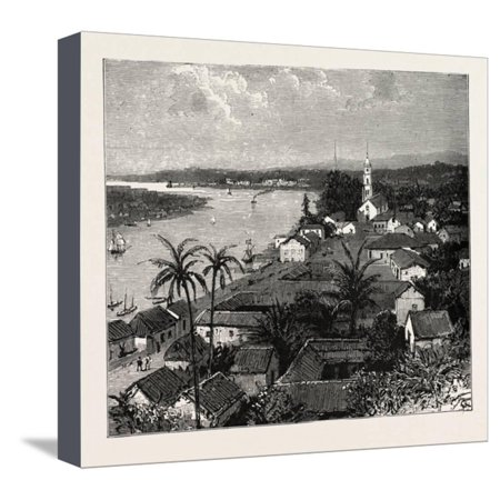 View of the City of Tuxpan from Observatory Hill, Looking West, Mexico, 1888 Stretched Canvas Print Wall Art](Party City West Hills)