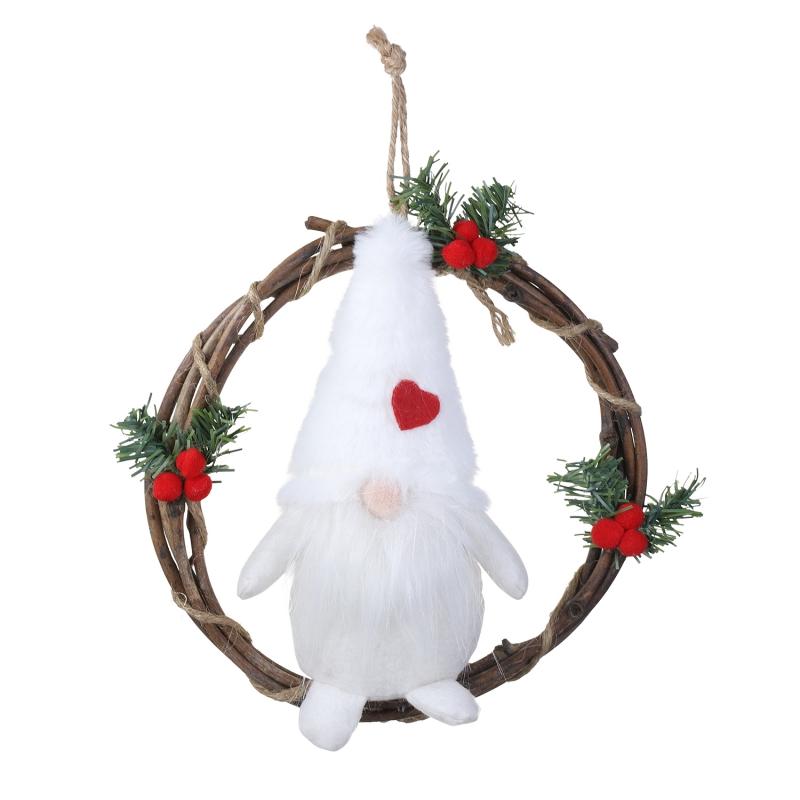 Scandinavian Holiday Decor Christmas Door Ringer Christmas Bell Door Hanger Tomte Norwegian Christmas Gnomes Gray Gnome Christmas Bell