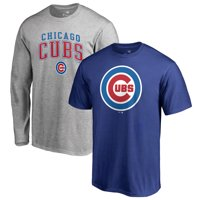 Chicago Cubs Fanatics Branded T-Shirt Combo Set - Royal/Gray