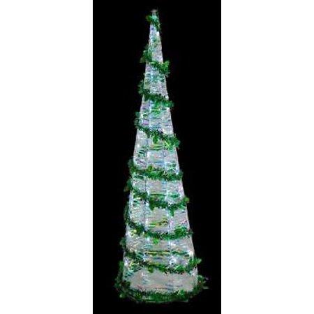 barcana illuminated iridescent 48 led cone tree - Barcana Christmas Trees