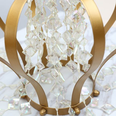 - Efavormart 10 Yards Acrylic Crystal Garland Hanging Wedding Party Decoration Diamond Earings Design - Rainbow
